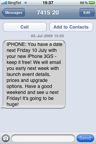 Received this SMS From Singtel