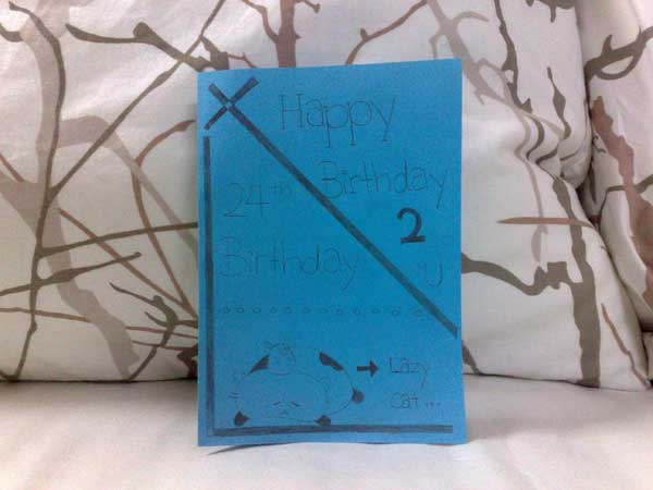 Birthday Card From My Brother And His Girlfriend (Huimin)