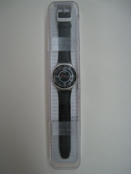 Swatch Irony Carbonoir Watch In Clear Box