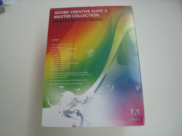 Adobe CS3 Master Collection - Front View