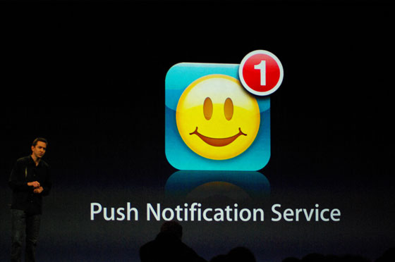Apple's Push Notification Announcement