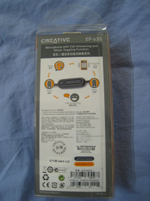 Creative EP-630i Stereo Headset - Box