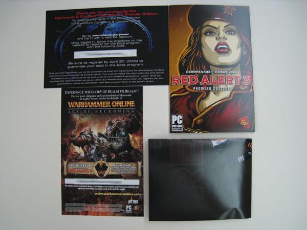 Poster, Manual, Warhammer Online CD Key, C&C Future Beta CD Key
