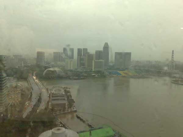 View From The 21st Floor (Raining)