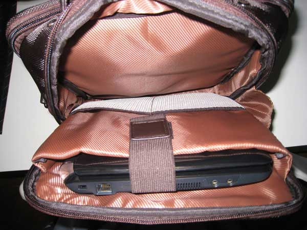 Netbook Compartment With Netbook In It
