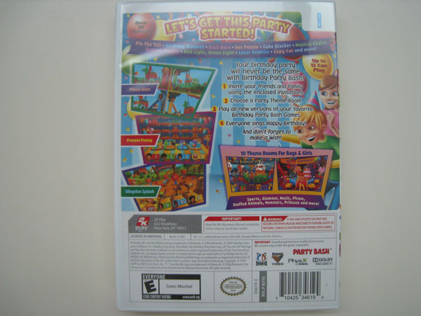 Wii Birthday Party Bash (Back)