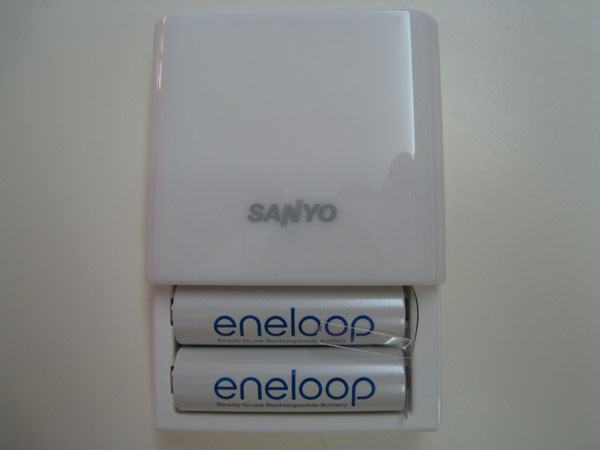 2 Eneloop Rechargeable Batteries Included