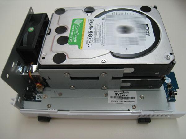 Inserting HDD