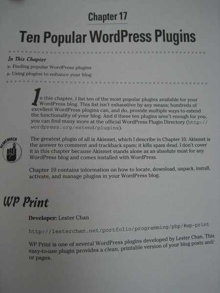 My Plugin WP-Print Mentioned